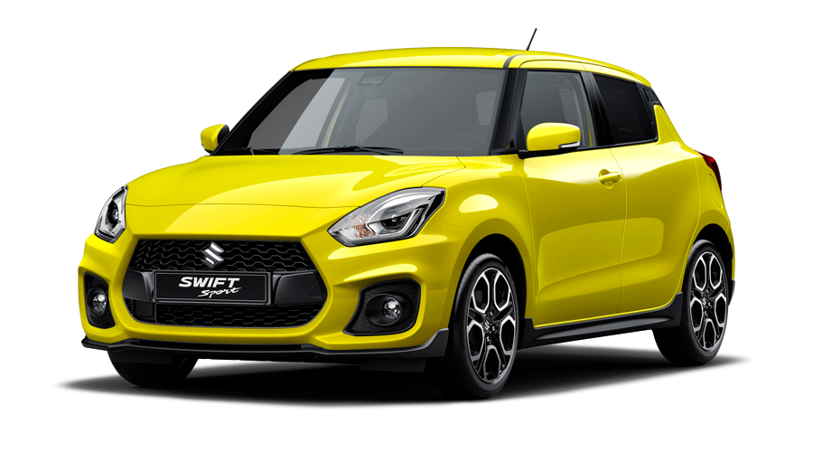Suzuki New Swift Sport gelb Modellpalette